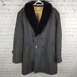 HUDSON BAY CO   vintage sherpa barnstormer coat
